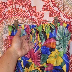 Vintage Pants - VINTAGE Granada M Hawaiian Print Romper